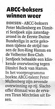ABCC boksers winnen weer