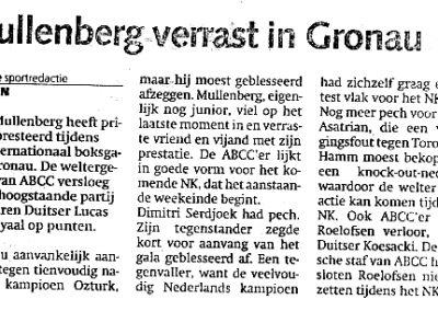 bokser Mullenberg verrast in Gronau
