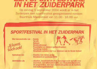Demonstratie Zuiderpark